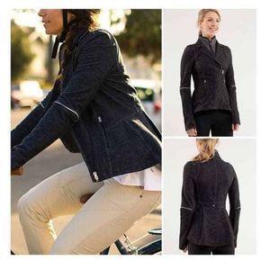 Lululemon Slub Denim Ride On Blazer Moto Jacket 4